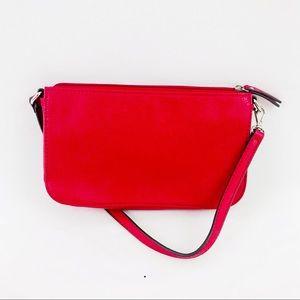Vintage Worthington Red Faux Leather Mini Shoulder Bag Purse